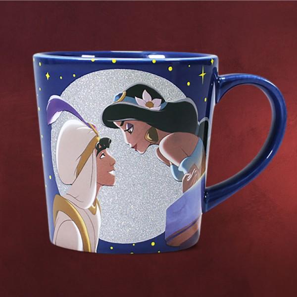 Aladdin und Jasmin Glitter Tasse