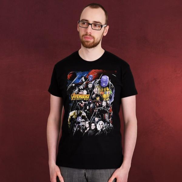 Avengers - Infinity War Collage T-Shirt schwarz