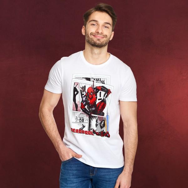 Deadpool - Comic Action T-Shirt weiß