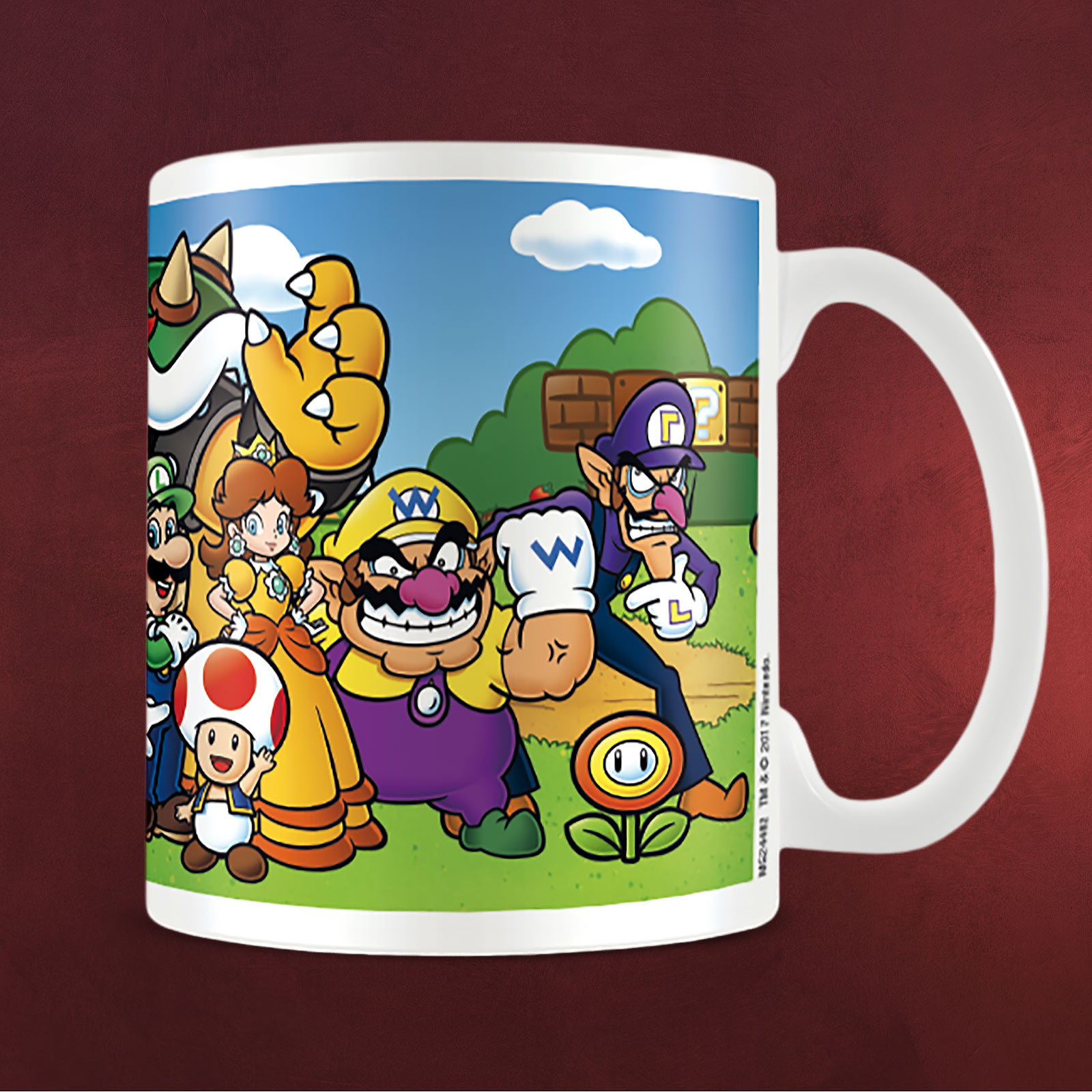 super mario characters tasse elbenwald. Black Bedroom Furniture Sets. Home Design Ideas
