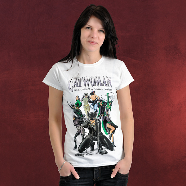Catwoman - Nine Lives Girlie Shirt