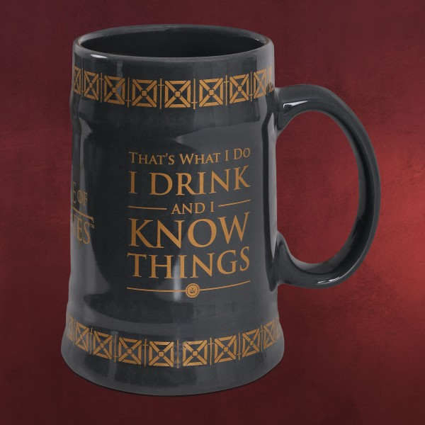 Game of Thrones - Drink And Know Things Krug grau