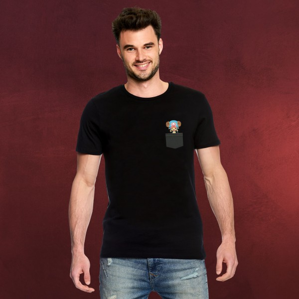 One Piece - Pocket Chopper T-Shirt schwarz