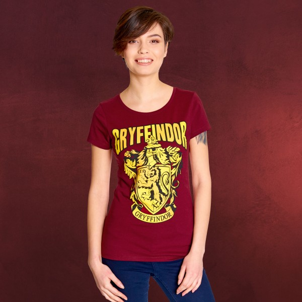 Harry Potter - Gryffindor Wappen T-Shirt Damen rot