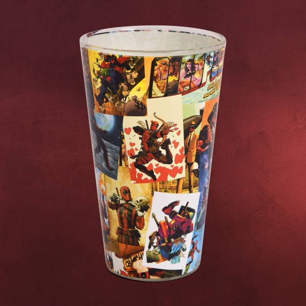Deadpool - Comic Collage Glas