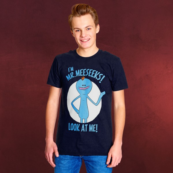 Rick and Morty - Mr. Meeseeks T-Shirt blau