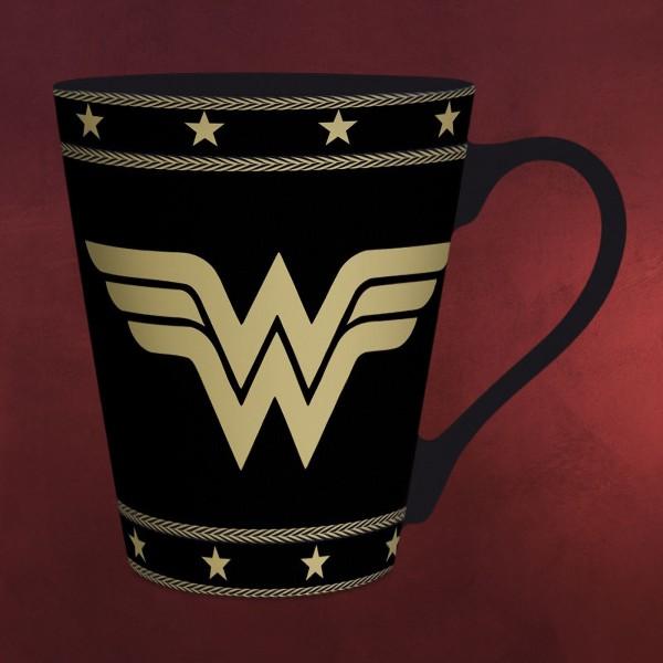 Wonder Woman - Logo Tasse schwarz
