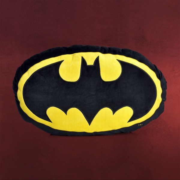 Batman - Classic Logo Kissen XL oval schwarz