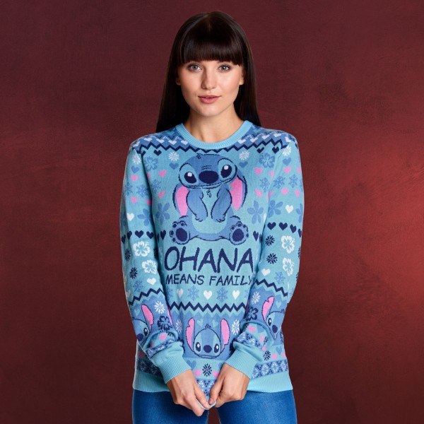 Lilo & Stitch - Ohana Means Family Strickpullover Damen