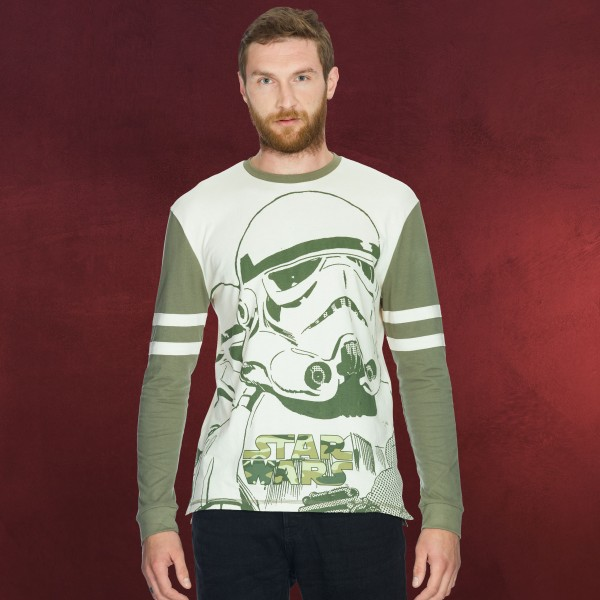Star Wars - Giant Stormtrooper Longsleeve grün
