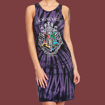 Harry Potter - Hogwarts Wappen Batik Minikleid