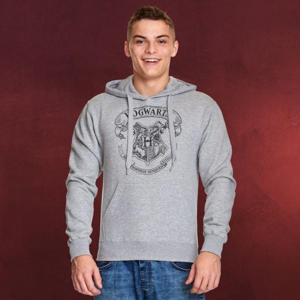 Harry Potter - Hogwarts Wappen Hoodie grau