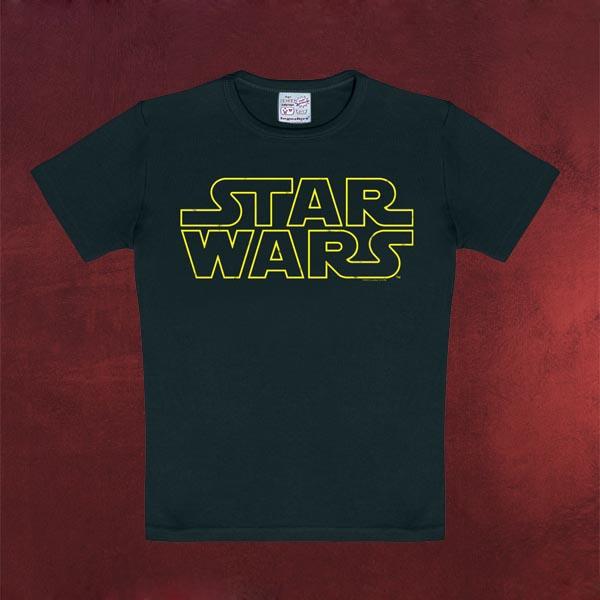 Star Wars - Logo Kinder T-Shirt schwarz