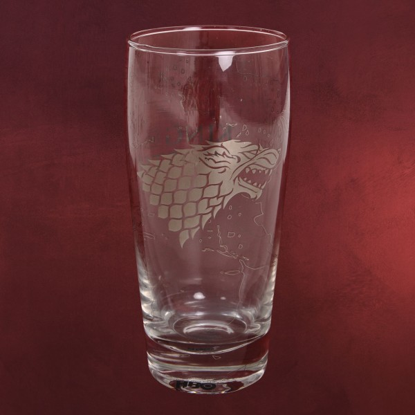 Game of Thrones - King in the North Schattenwolf Glas