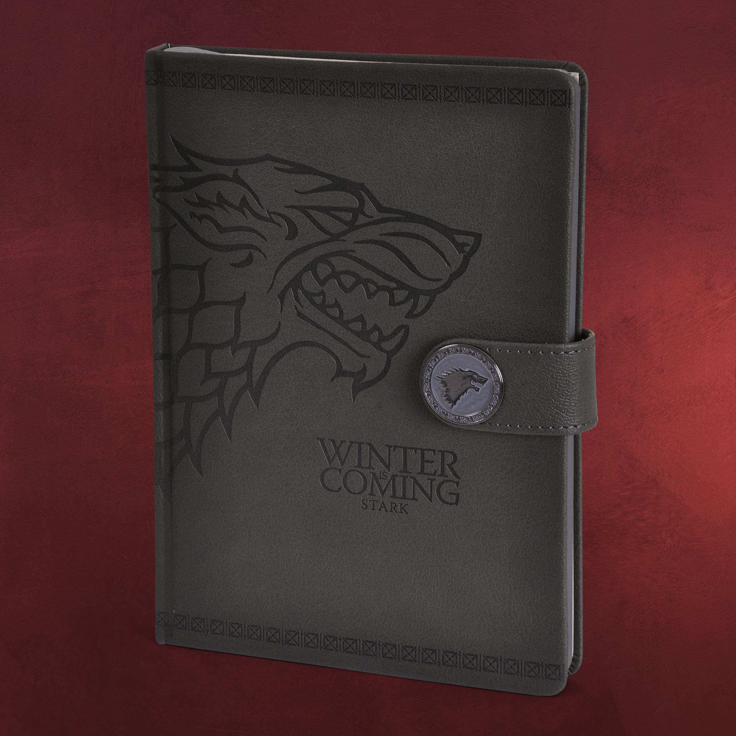 game of thrones stark wappen premium notizbuch a5 elbenwald. Black Bedroom Furniture Sets. Home Design Ideas