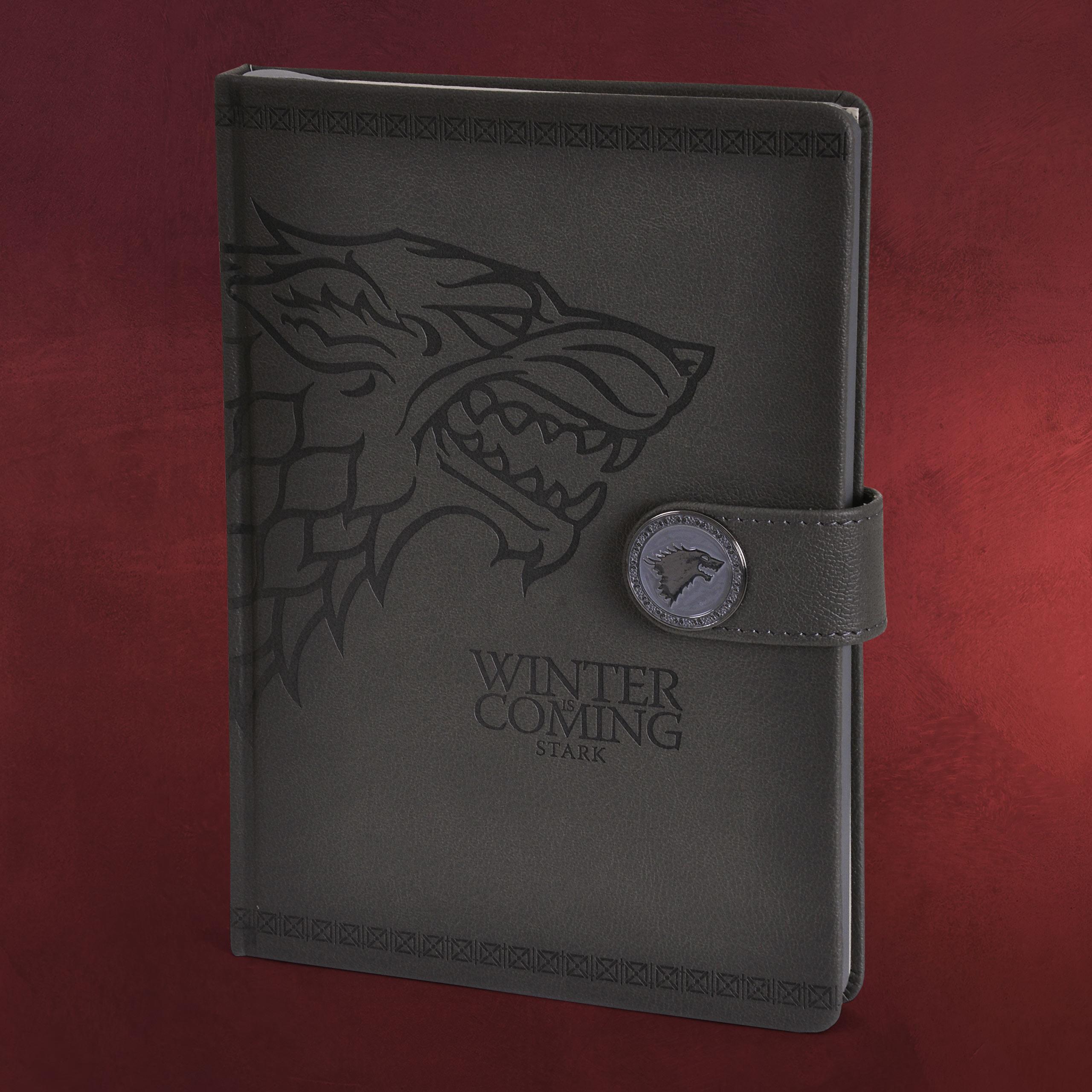 game of thrones stark wappen premium notizbuch a5. Black Bedroom Furniture Sets. Home Design Ideas