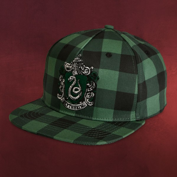 Harry Potter - Slytherin Wappen Karo Snapback Cap