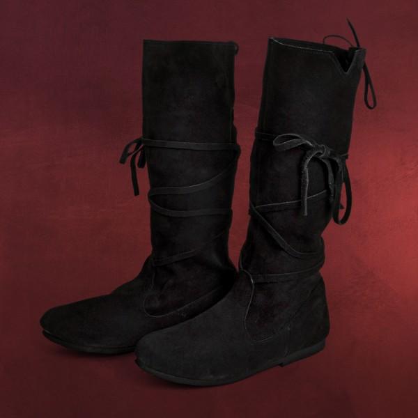 Mittelalter Schnürstiefel schwarz