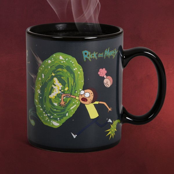 Rick and Morty - Portals Thermoeffekt Tasse