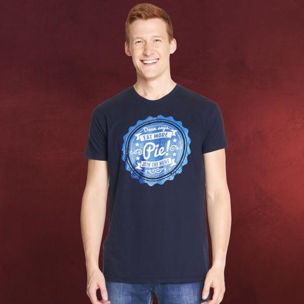 Supernatural - Eat More Pie T-Shirt blau