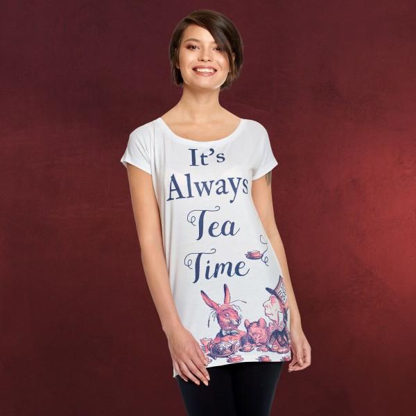 Tea Time Damen T-Shirt für Alice im Wunderland Fans