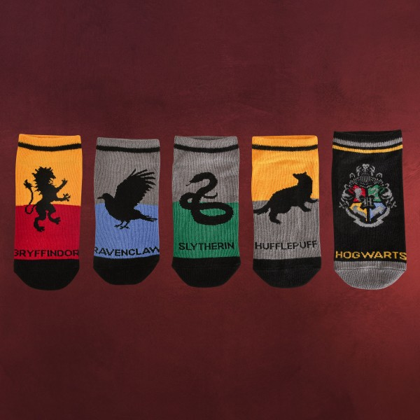 Harry Potter - Hogwarts Socken 5er Set