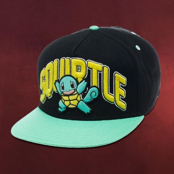 Pokemon - Schiggy Snapback Cap schwarz