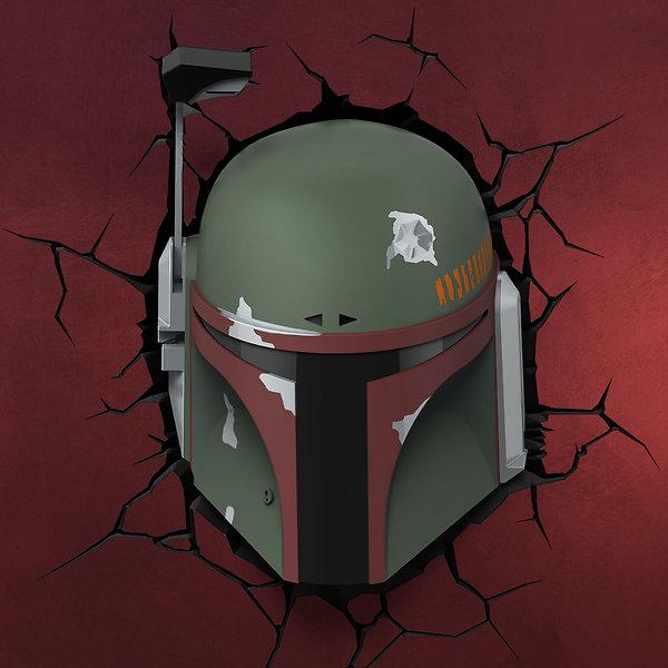 Star Wars - Boba Fett 3D LED Wandlicht