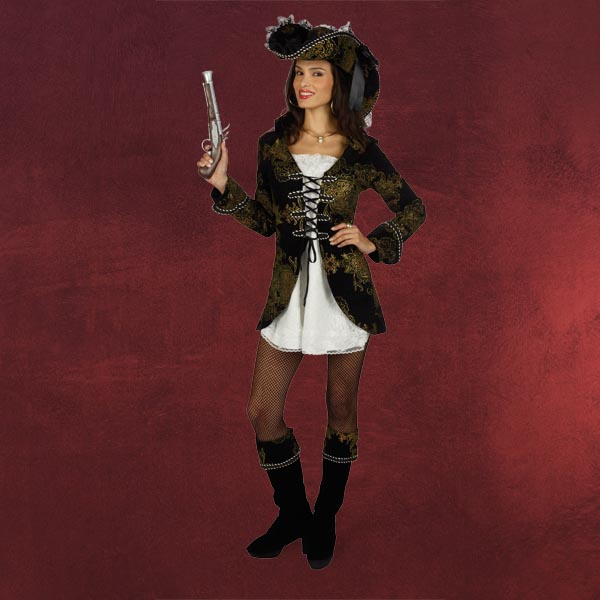 Spanische Piratin mit Hut - Damenkostüm