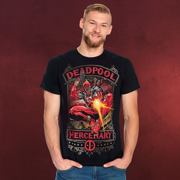 Deadpool - Mercenary T-Shirt schwarz
