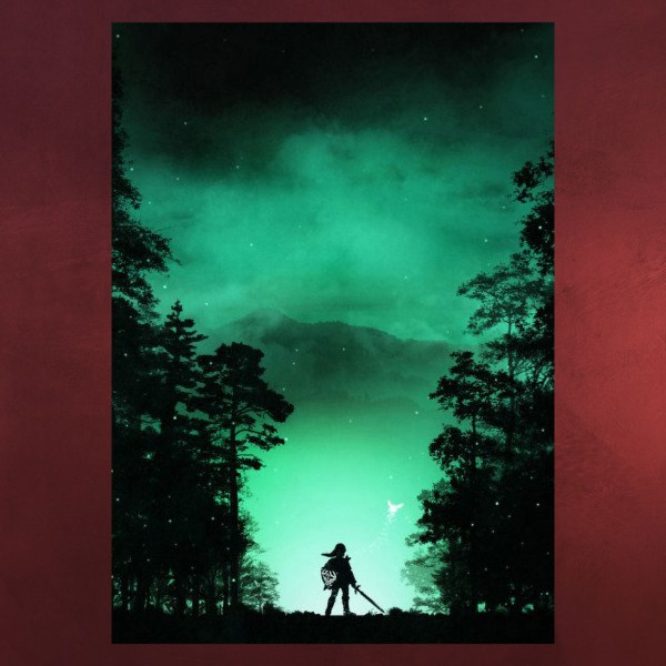 Kokiri Wald Metall Poster für Zelda Fans