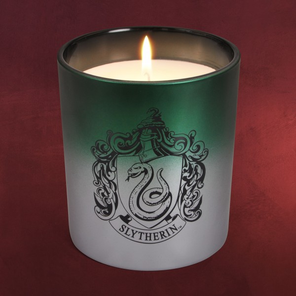 Harry Potter - Slytherin Wappen Kerze im Glas