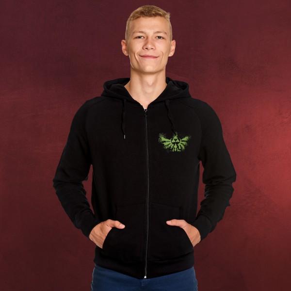 Zelda - Hyrule Graffiti Logo Kapuzenjacke schwarz