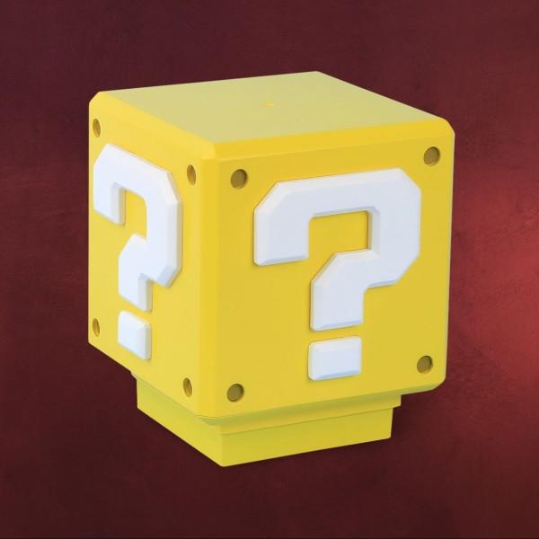 Super Mario - Mini Fragezeichen Lampe mit Sound