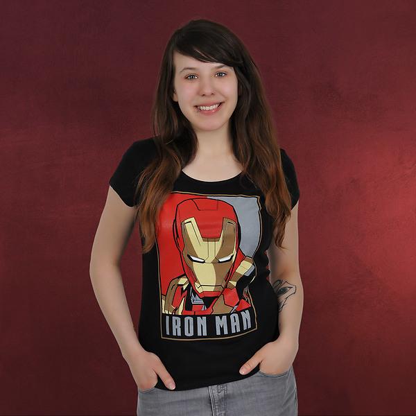 Iron Man - Poster Girlie Shirt schwarz