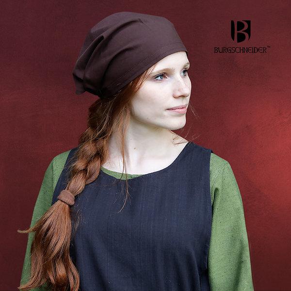 Mittelalter Kopftuchset Marianne natur-braun