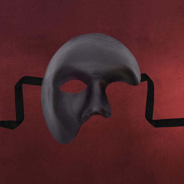 Venezianische Maske - Phantom schwarz