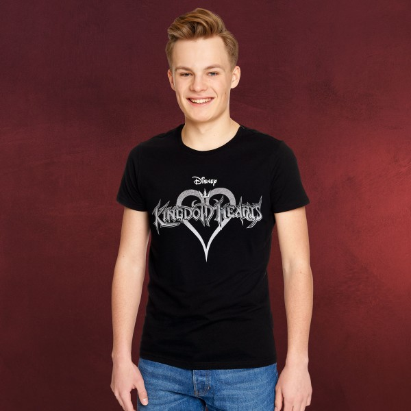Kingdom Hearts - Logo T-Shirt schwarz