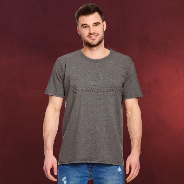 Overwatch - 3D Logo T-Shirt grau