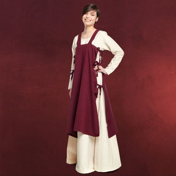 Mittelalter Überkleid Hildegard rot