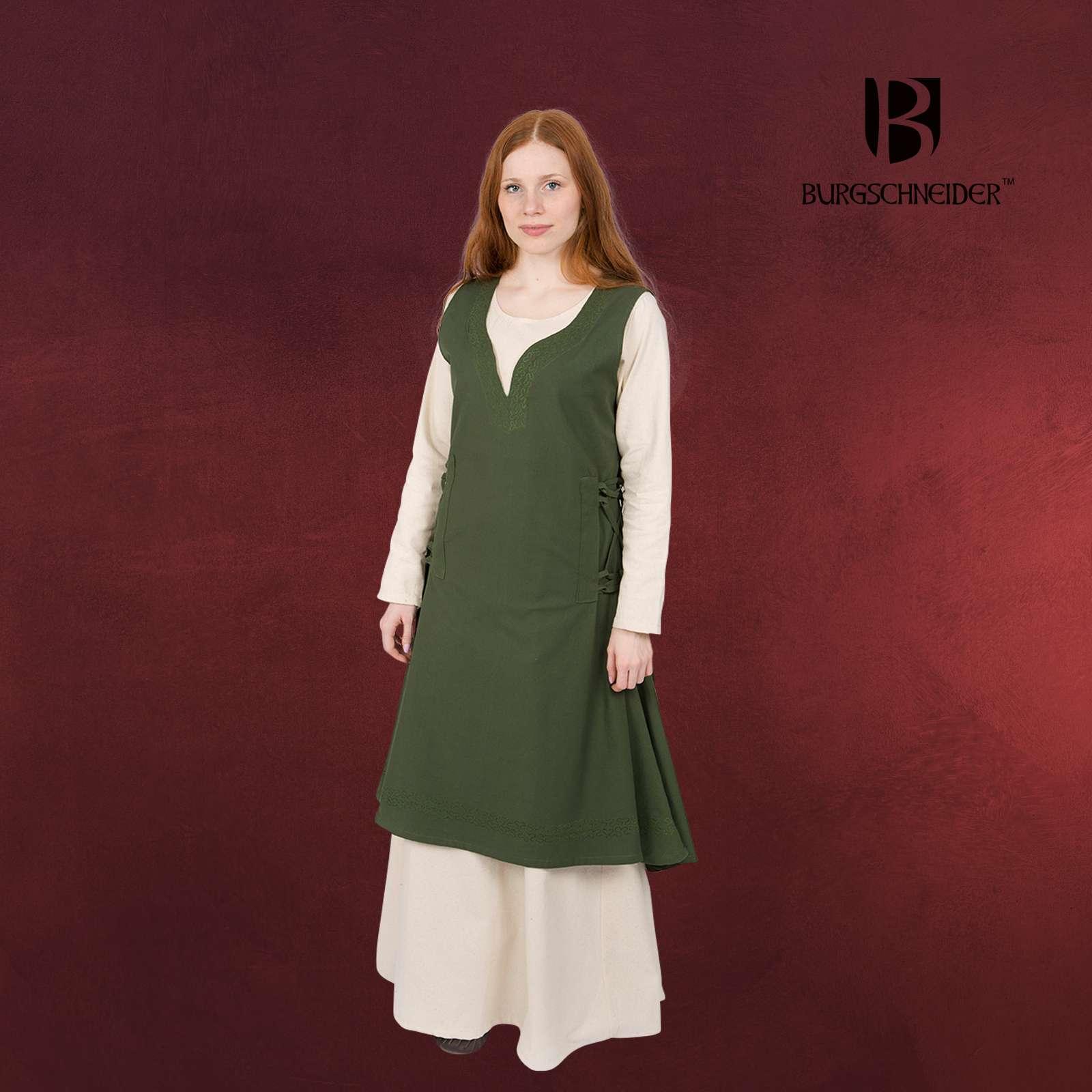 Mittelalter Kleid Lannion mit Schnürung grün Burgschneider