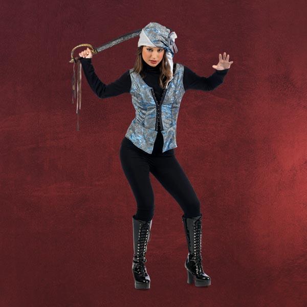 Piratin Weste mit Hut