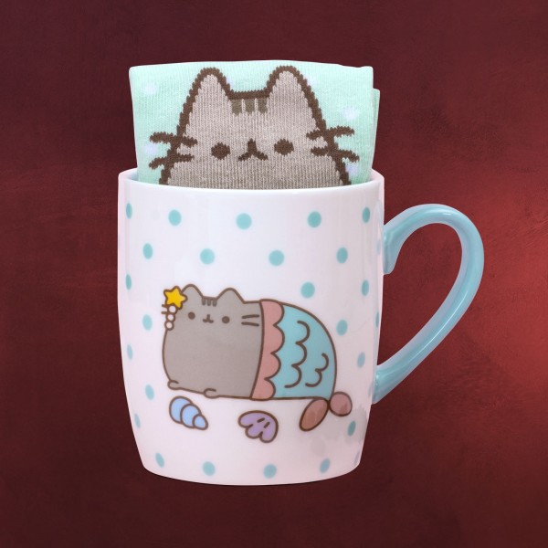 Pusheen - Mermaid Socken und Tasse