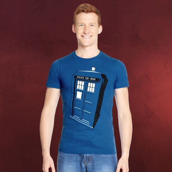 Doctor Who - Tardis Police Box T-Shirt blau