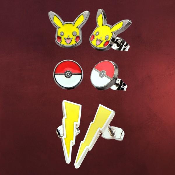 Pokemon - Pikachu Ohrschmuck-Set 3tlg.