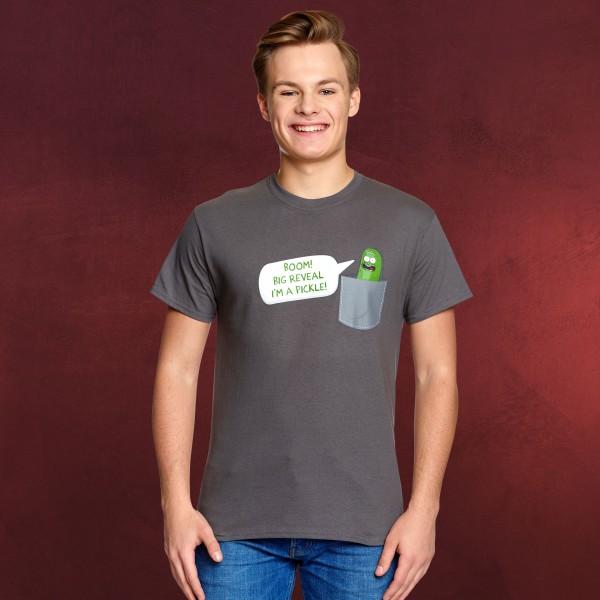 Rick and Morty - Pocket Pickle Rick T-Shirt grau