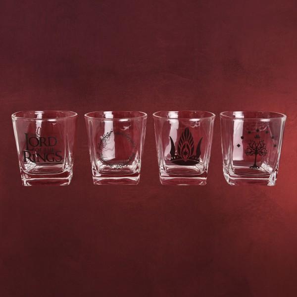 Herr der Ringe - Mittelerde Gläserset 4-teilig