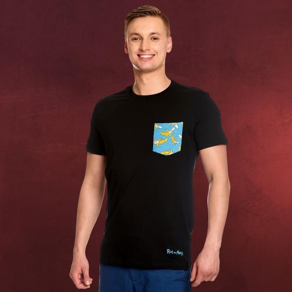 Rick and Morty - Pocket Banana T-Shirt schwarz