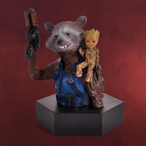 Guardians of the Galaxy - Rocket Raccoon mit Baby Groot Figur