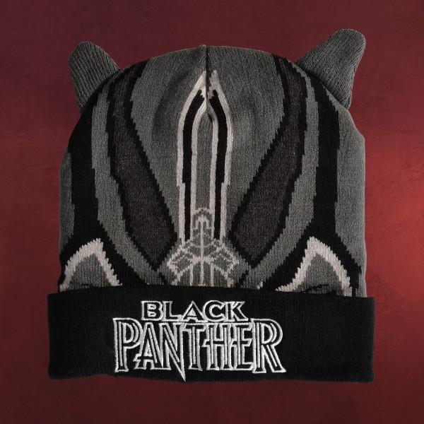 Black Panther Beanie mit Ohren